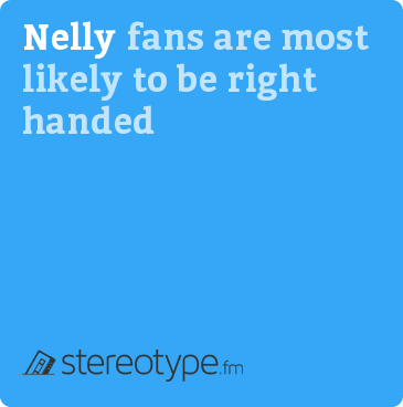 Nelly fans are most likely to be right handed