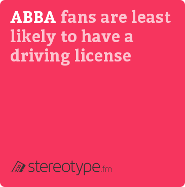 ABBA fans are least likely to have a driving license