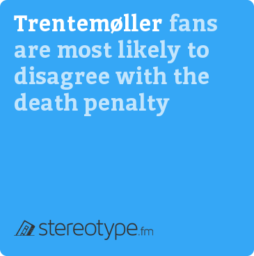 Trentemøller fans are most likely to disagree with the death penalty