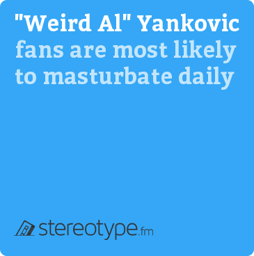 """Weird Al"" Yankovic fans are most likely to masturbate daily"