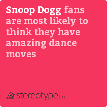 Snoop Dogg fans are most likely to think they have amazing dance moves