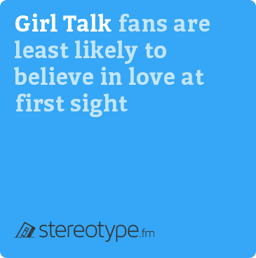 Girl Talk fans are least likely to believe in love at first sight