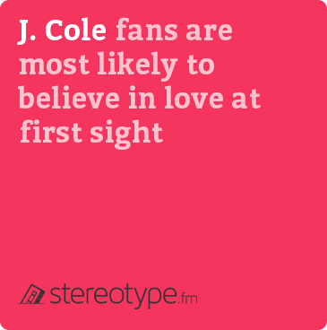 J. Cole fans are most likely to believe in love at first sight