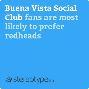 Buena Vista Social Club fans are most likely to prefer redheads
