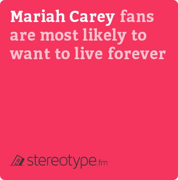 Mariah Carey fans are most likely to want to live forever