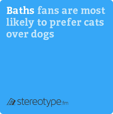 Baths fans are most likely to prefer cats over dogs
