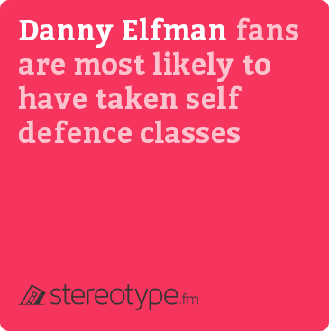 Danny Elfman fans are most likely to have taken self defence classes