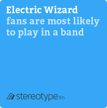 Electric Wizard fans are most likely to play in a band
