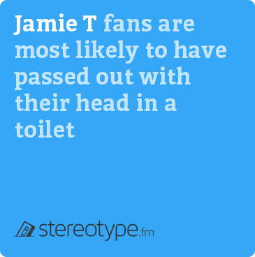 Jamie T fans are most likely to have passed out with their head in a toilet