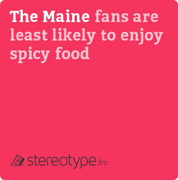 The Maine fans are least likely to enjoy spicy food