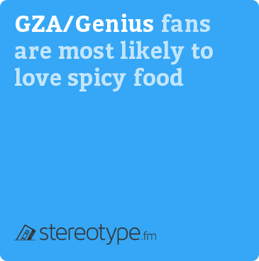 GZA fans are most likely to love spicy food