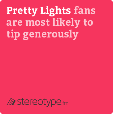 Pretty Lights fans are most likely to tip generously
