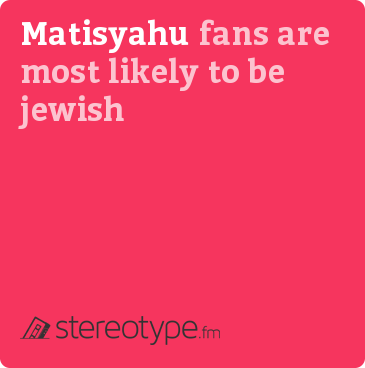Matisyahu fans are most likely to be Jewish