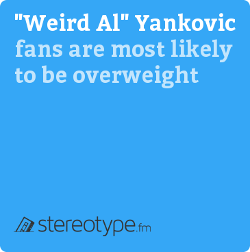 """Weird Al"" Yankovic fans are most likely to be overweight"